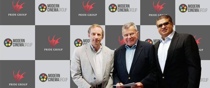 MODERN CINEMA GROUP ANNOUNCES A PARTNERSHIP WITH THE PRIDE GROUP AND PRIDE HOLDING