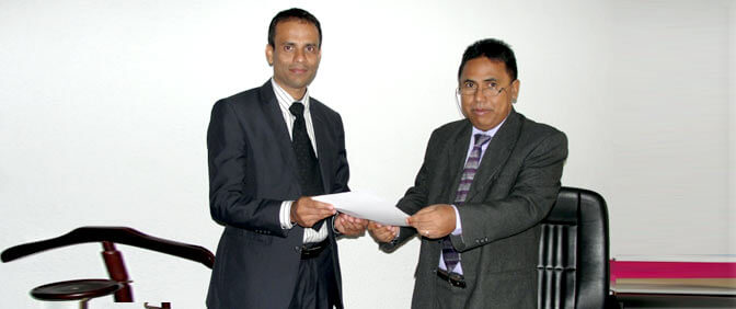 Letter of acceptance for establishing Commodity Futures Exchange in Madagascar