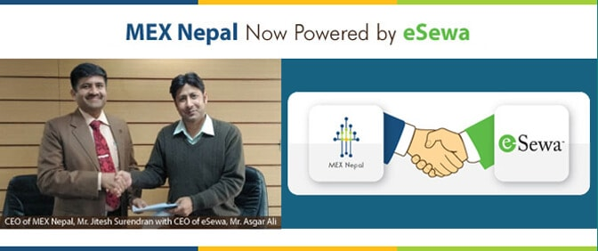 CEO of MEX Nepal with CEO of eSewa