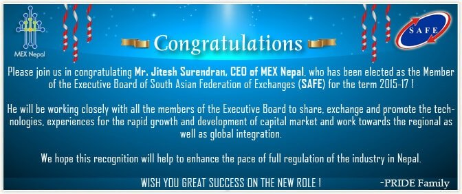 CEO of MEX Nepal elected as the Member of Executive Board of SAFE