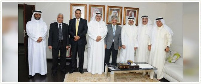 Secretary General of Royal Charity Foundation of Kingdom of Bahrain with Pride Group Delegates