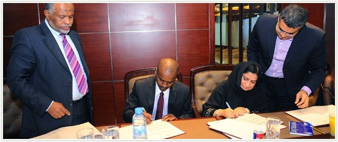 Director General of Pride Group and Chairman of CHADIAN Investment Corporation signing the Memorandum of Agreement