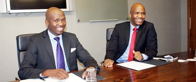 Mr. Goodwill Nhlanhla and Mr. Zweli Dladla of ASANI GROUP in South Africa